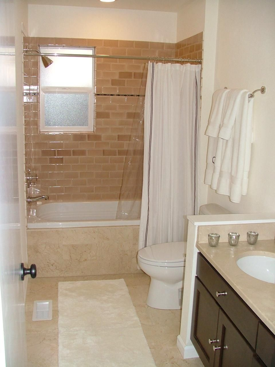 small bathrooms are less expensive to remodel, compared with a
