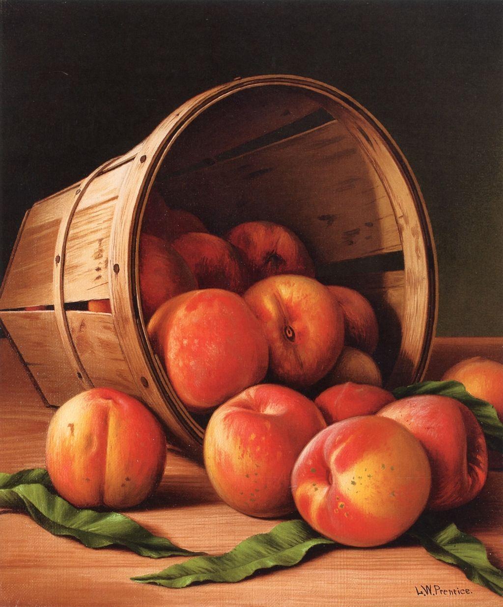 Levi Wells Prentice (18511935) Basket of Peaches