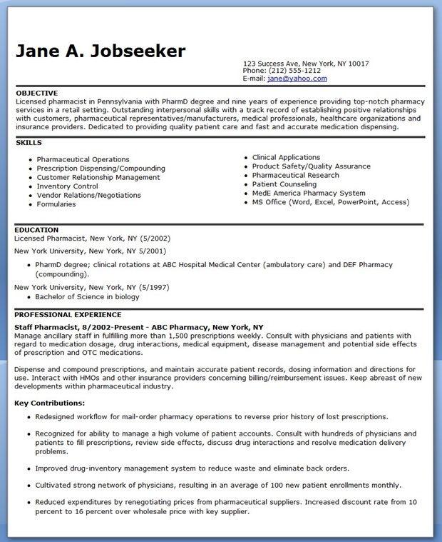 retail pharmacist resume sample retail pharmacist resume sample