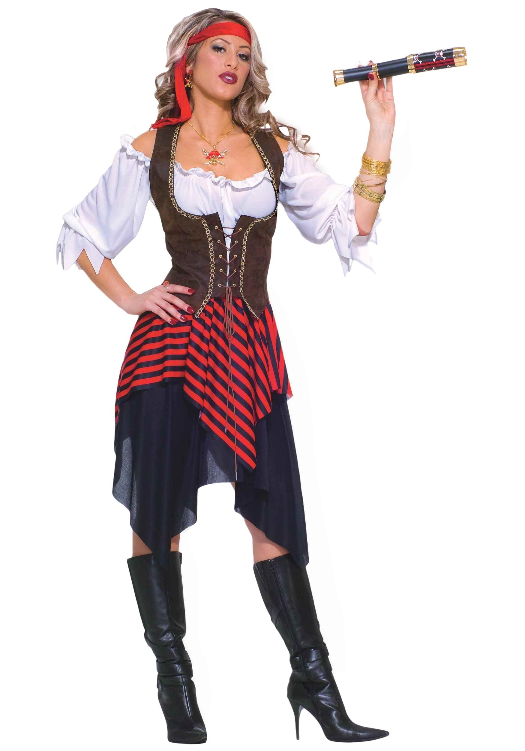 It's time to buck up! This Sweet Buccaneer Costume is a