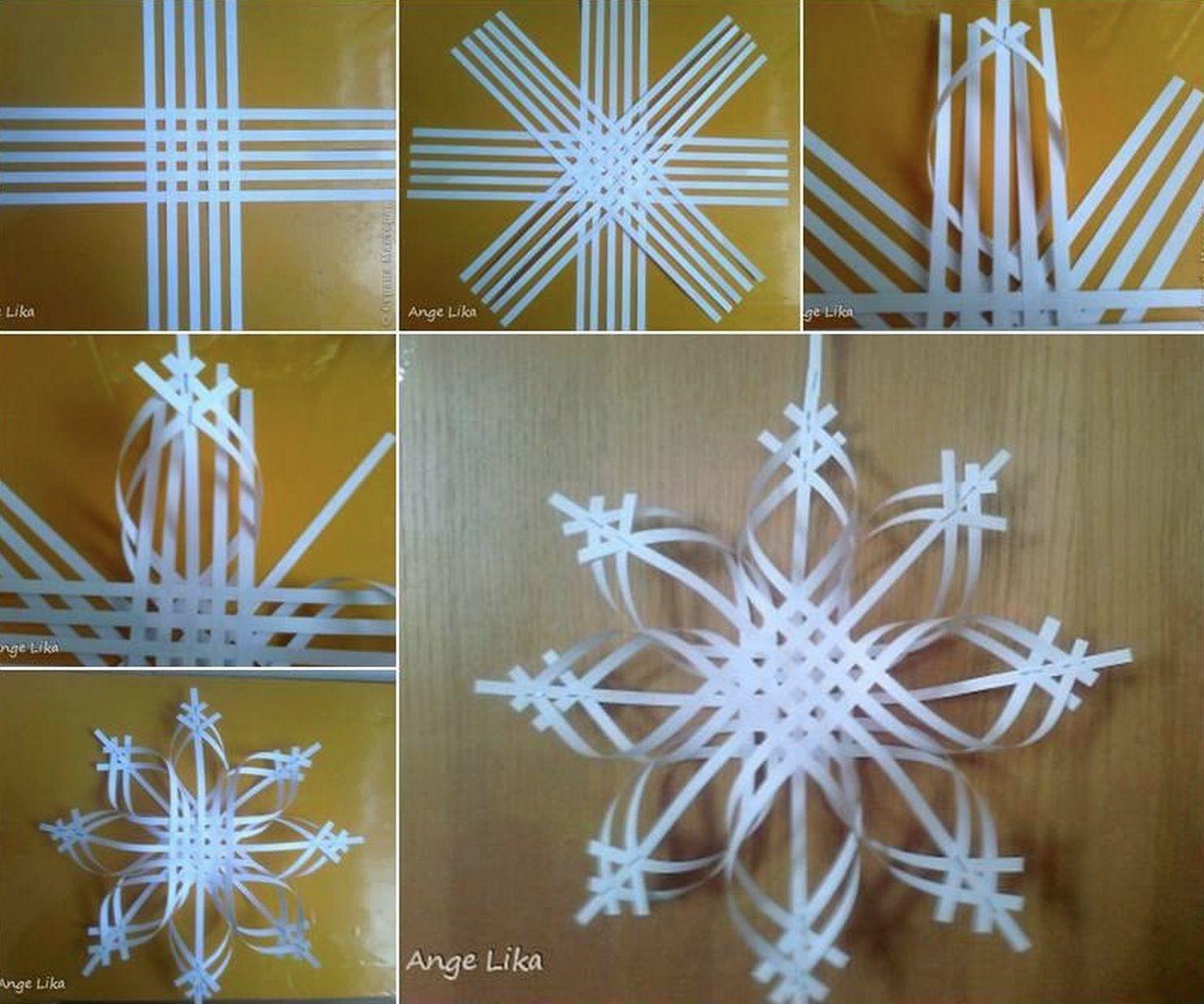 Wonderful DIY Colorful Woven Star Snowflake Paper