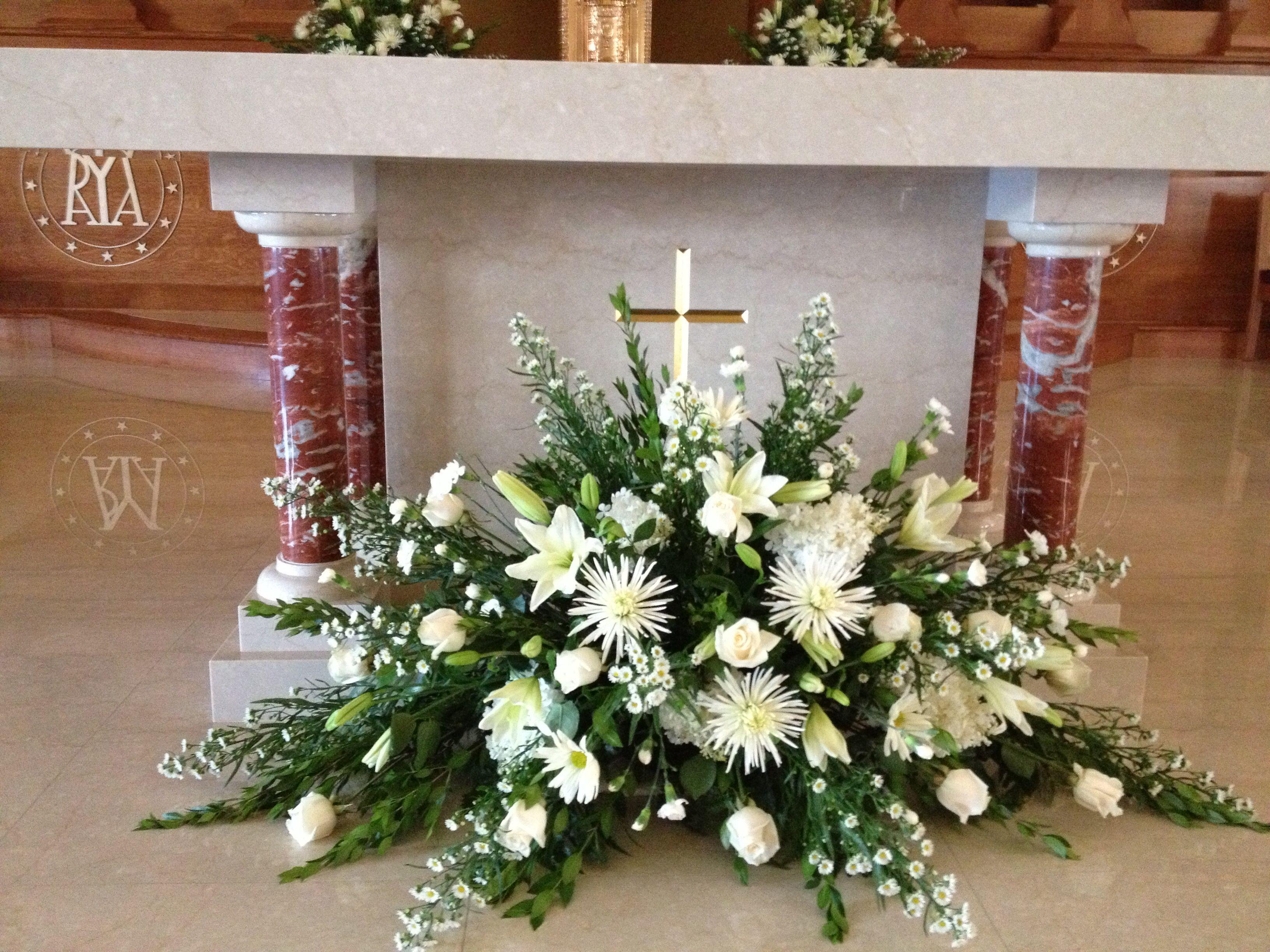 Church Arrangement Floral arrangements Pinterest