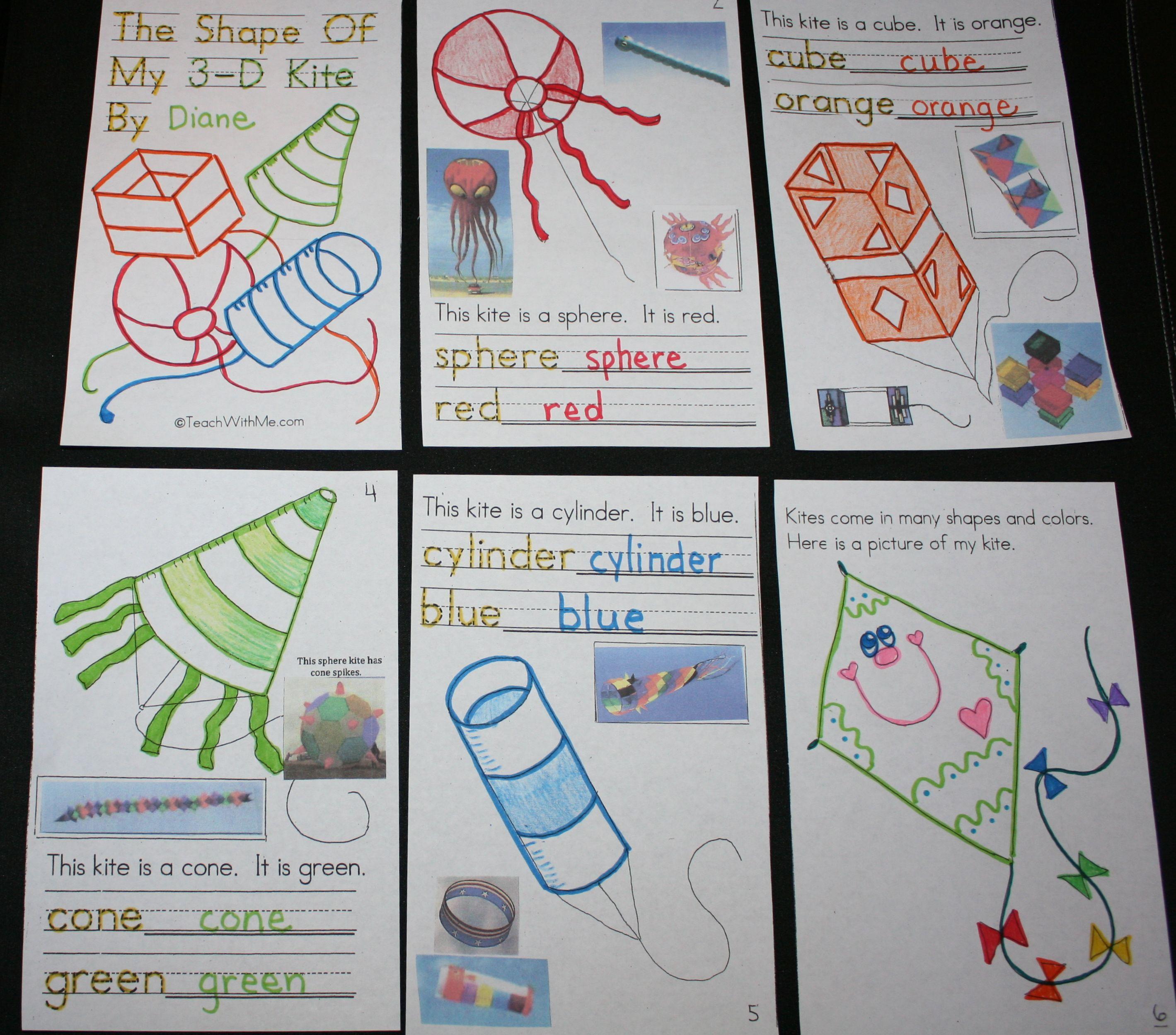Pk 2 3d Shapes Kite Booklet