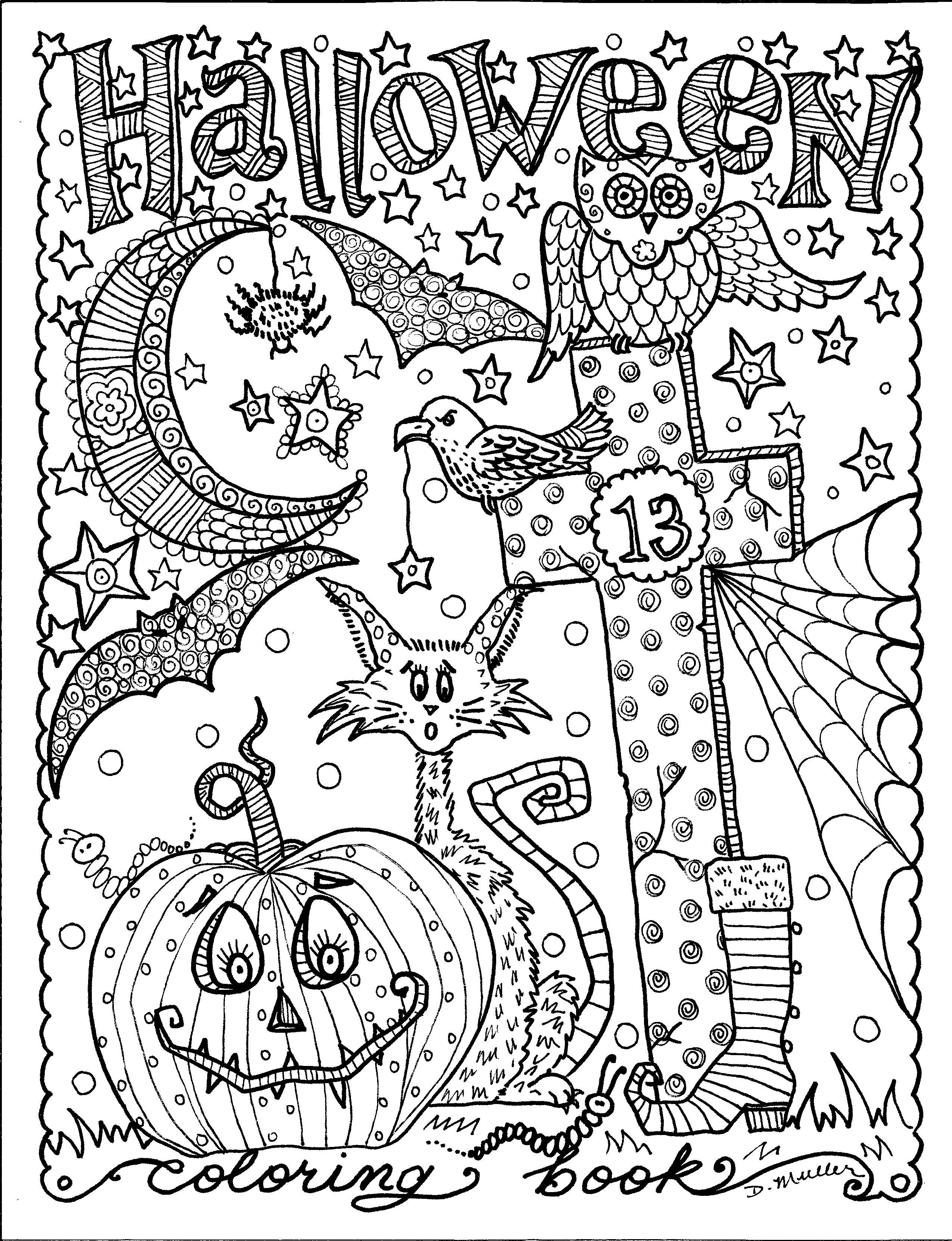 Halloween Coloring Book on Chubby Mermaid