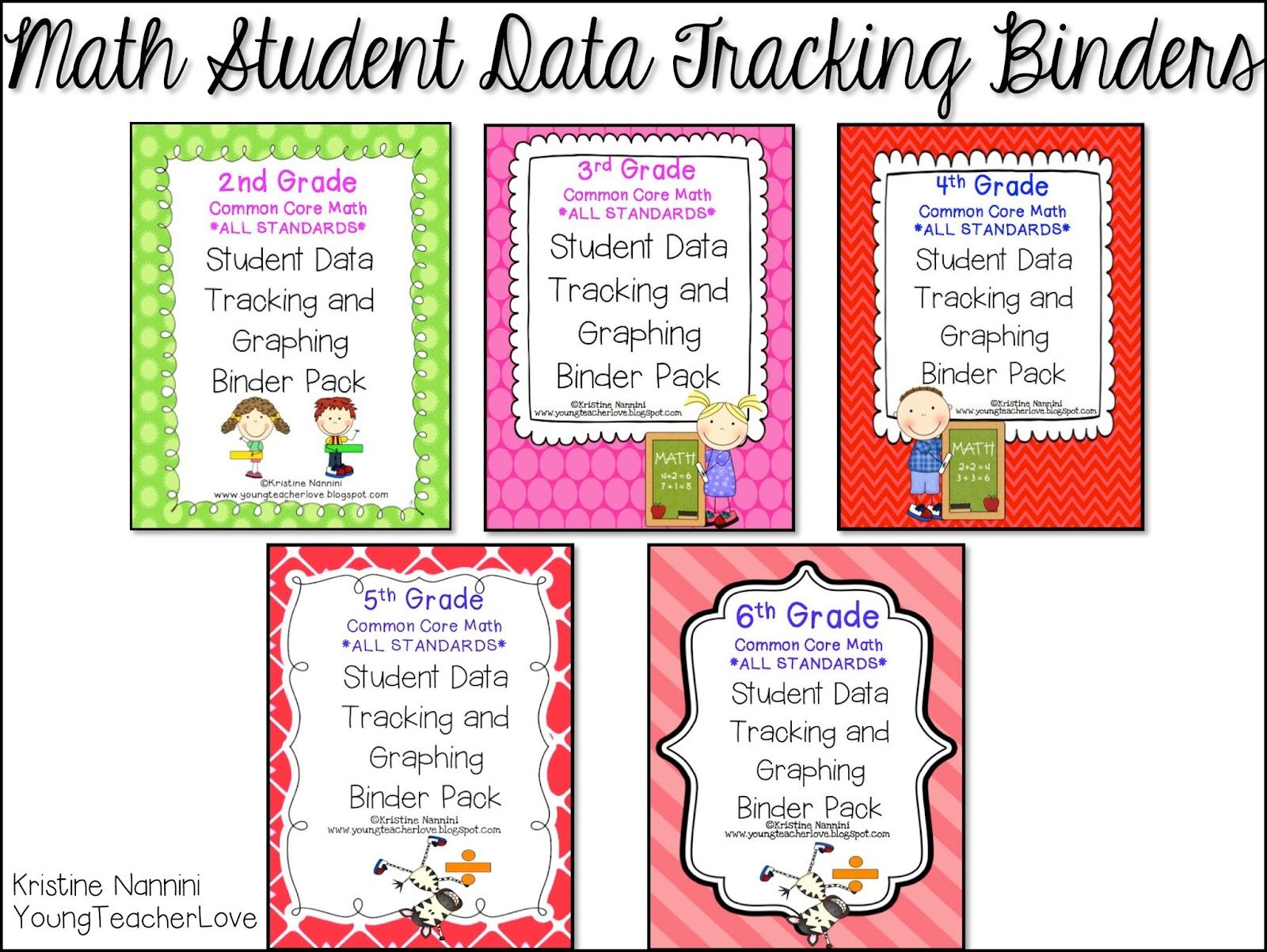 Great Data Folder Young Teacher Love Math And Ela Student Data Tracking Binders And A Freebie