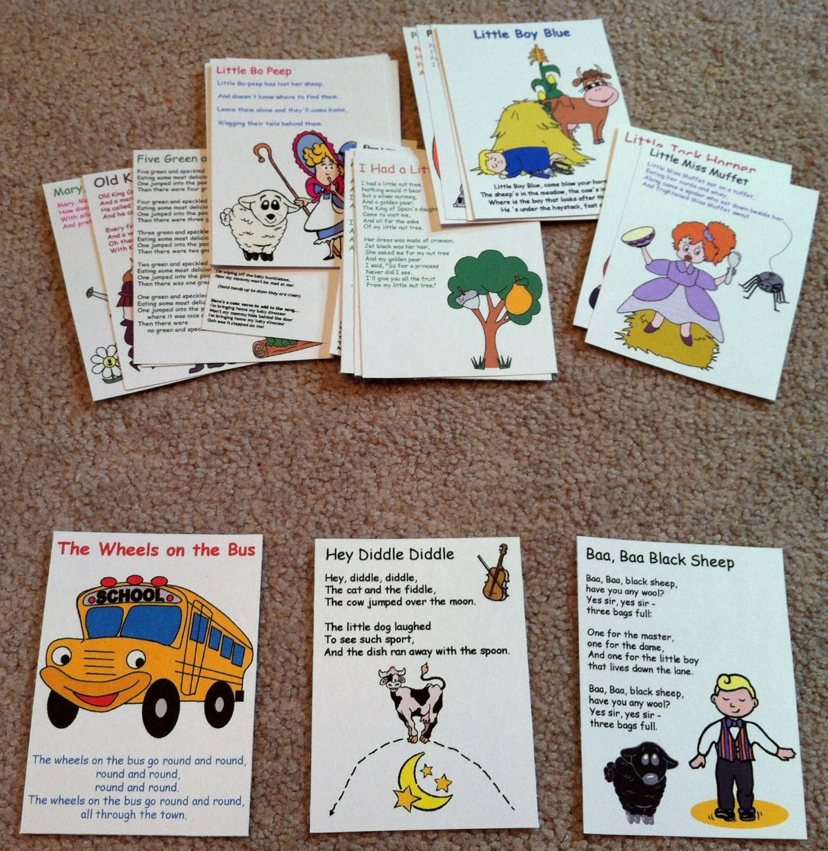 Busy Bag Nursery Rhymes And Songs Flashcards 1 200 1 232 Pixels