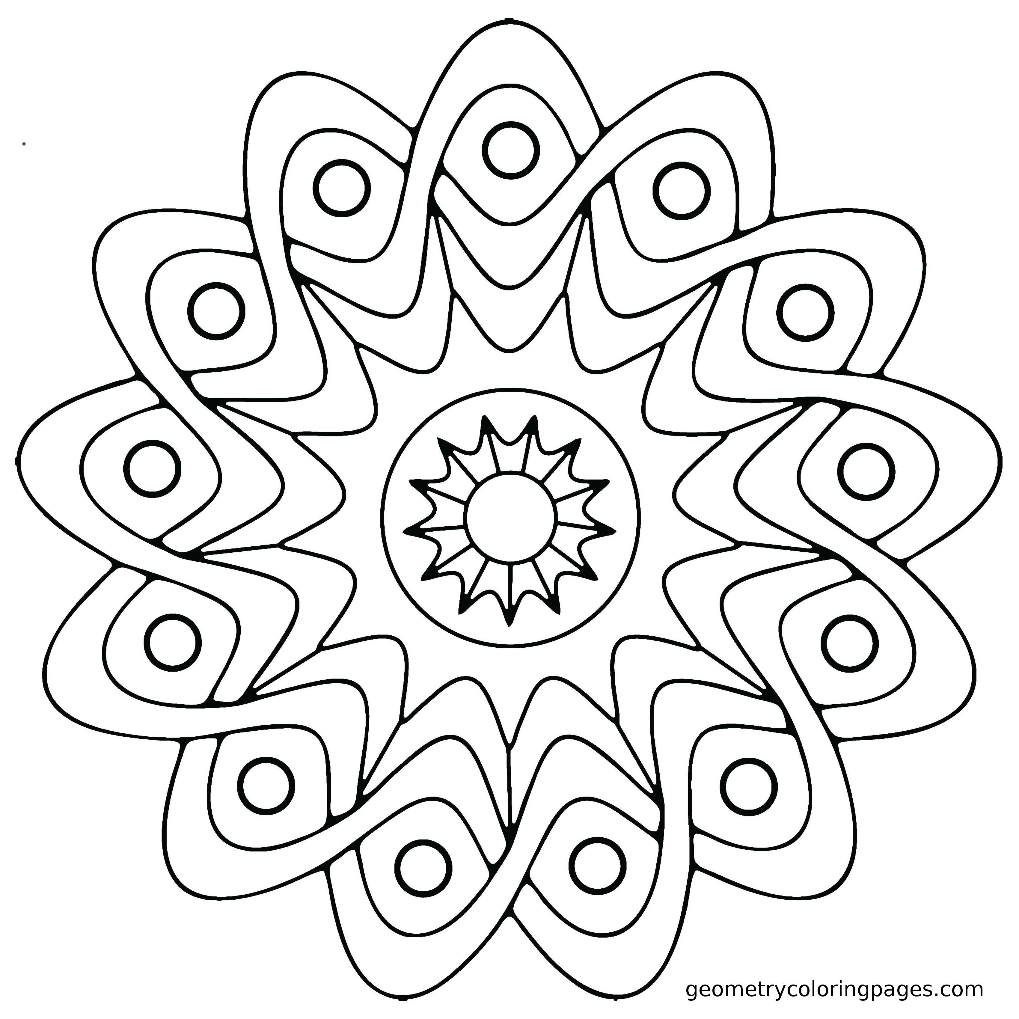 Mandala Coloring Pages Easy Mandala Coloring Pages