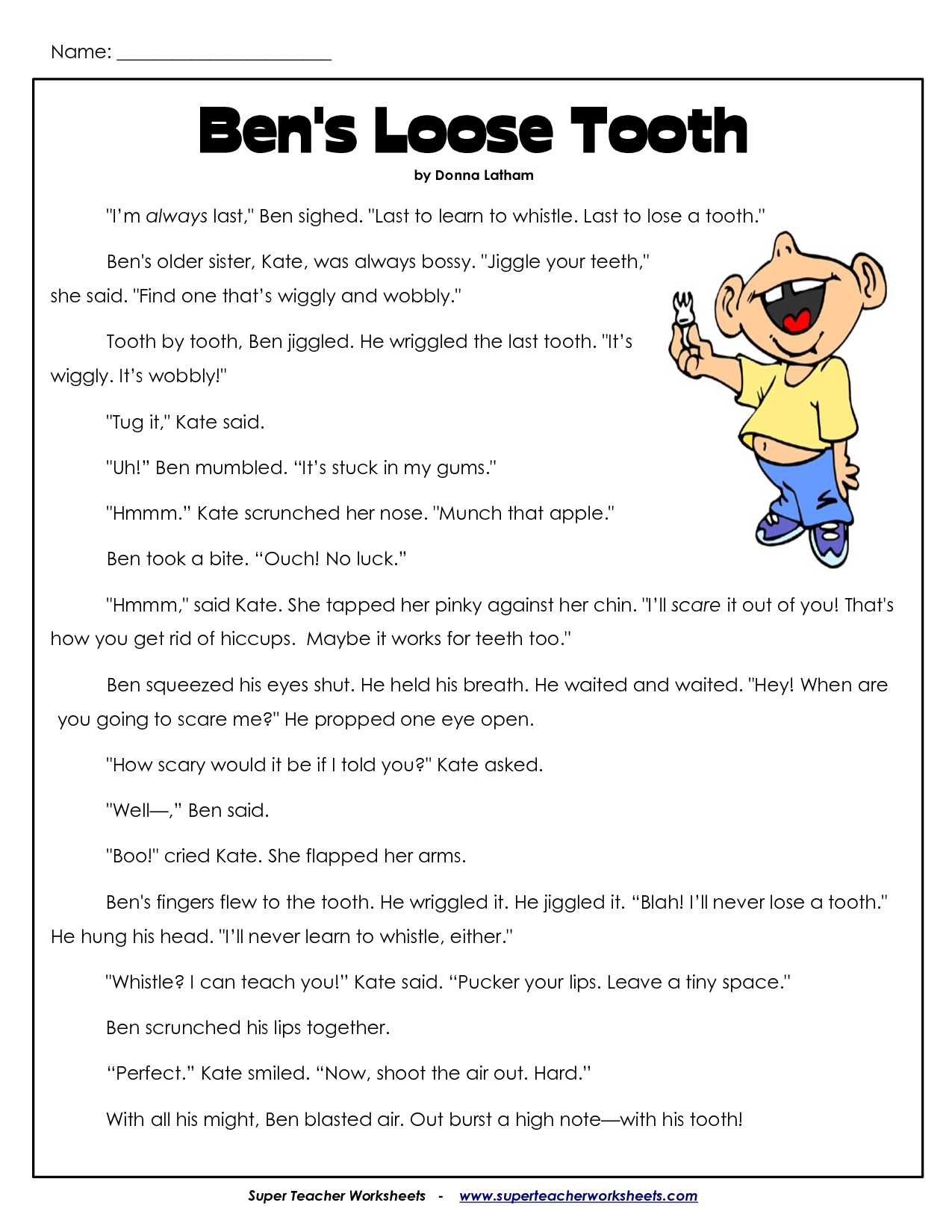 Comprehension Worksheets For 3rd Grade