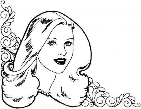 pretty girl printable coloring pages cooloring com