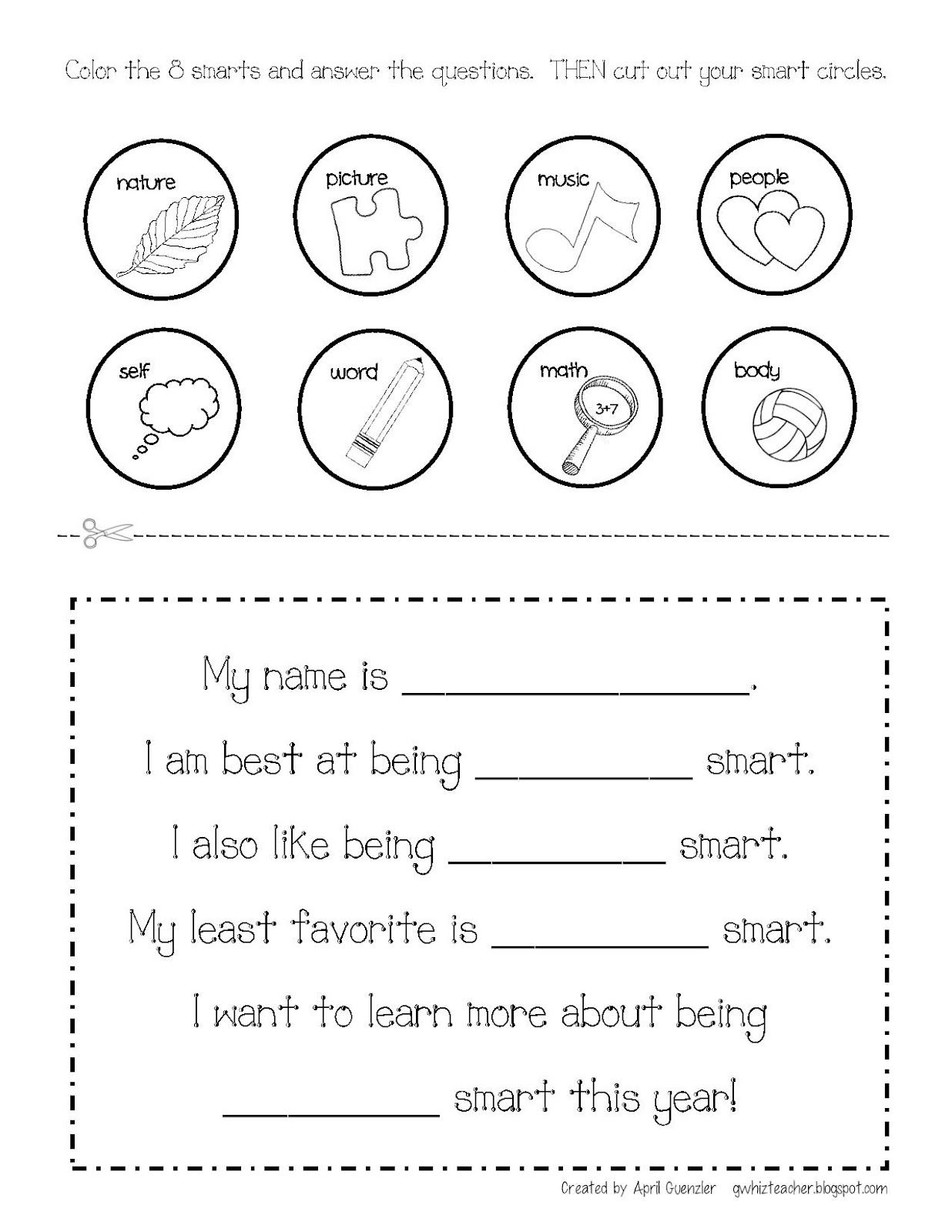 Multiple Intelligences Gwhizteacher Brain Mapping Free Brain Mapping Activity