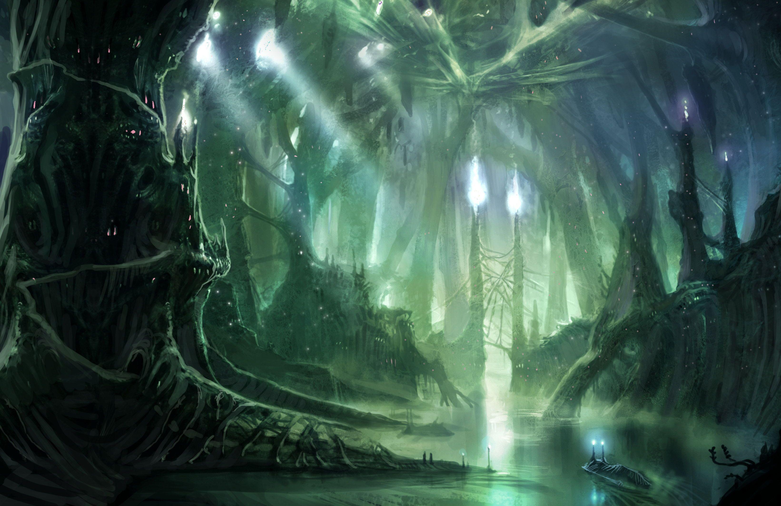 fantasy forest backgrounds | fantasy - forest wallpaper | creative
