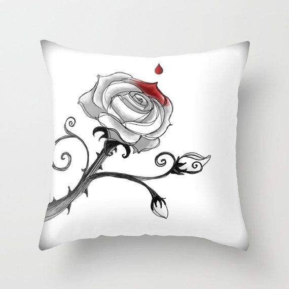 Pillow Covers Painting The Roses Red Tim Burton S Alice In Wonderland Inspired Insert
