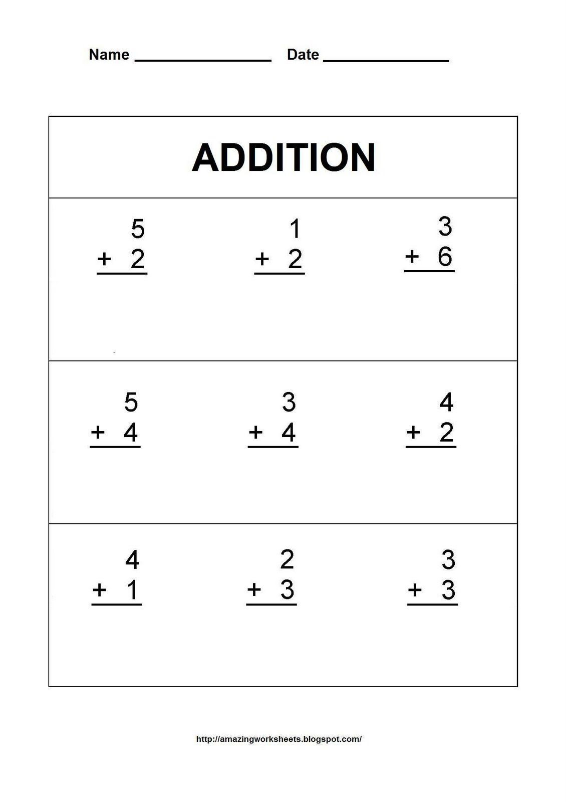 Free Math Worksheet Printables