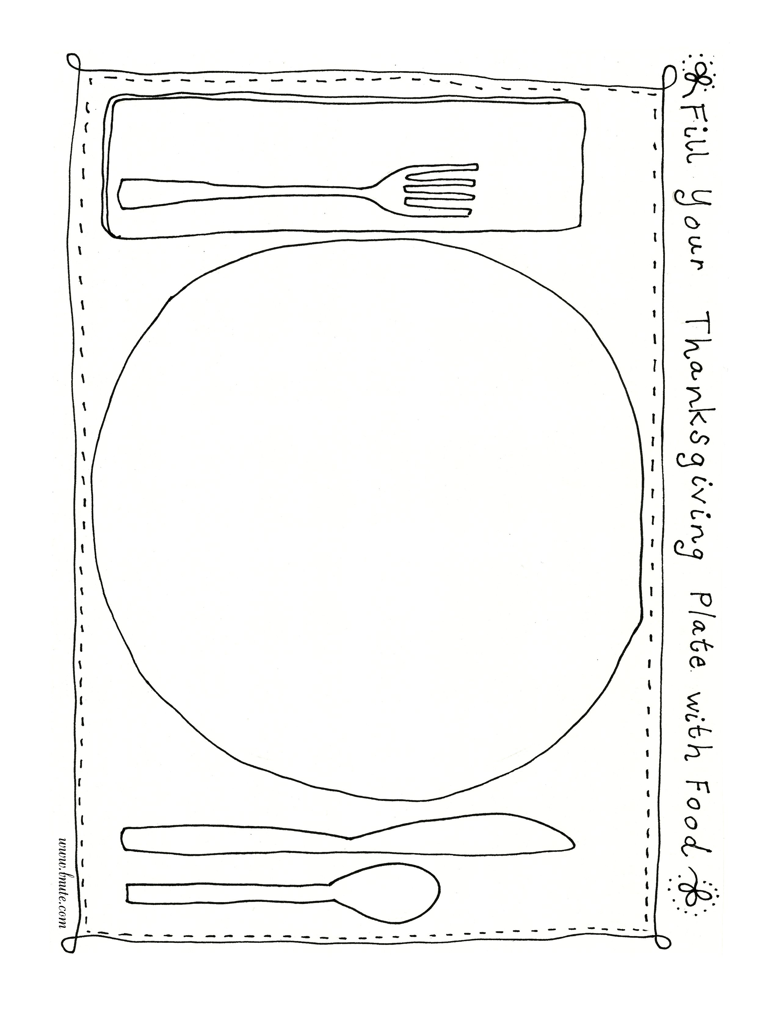 my plate coloring pages for preschool Fill Your