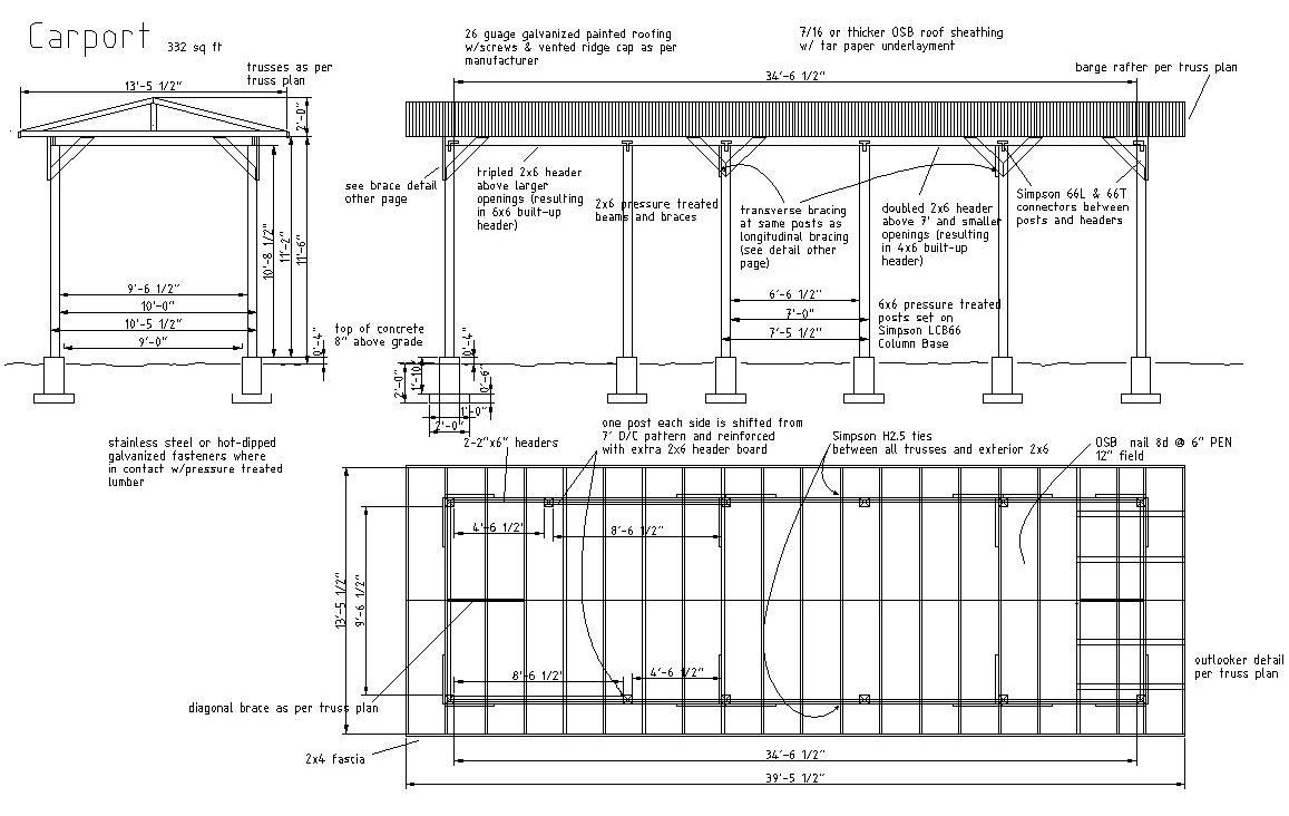 Plans for a carport Carport plans are shelters typically