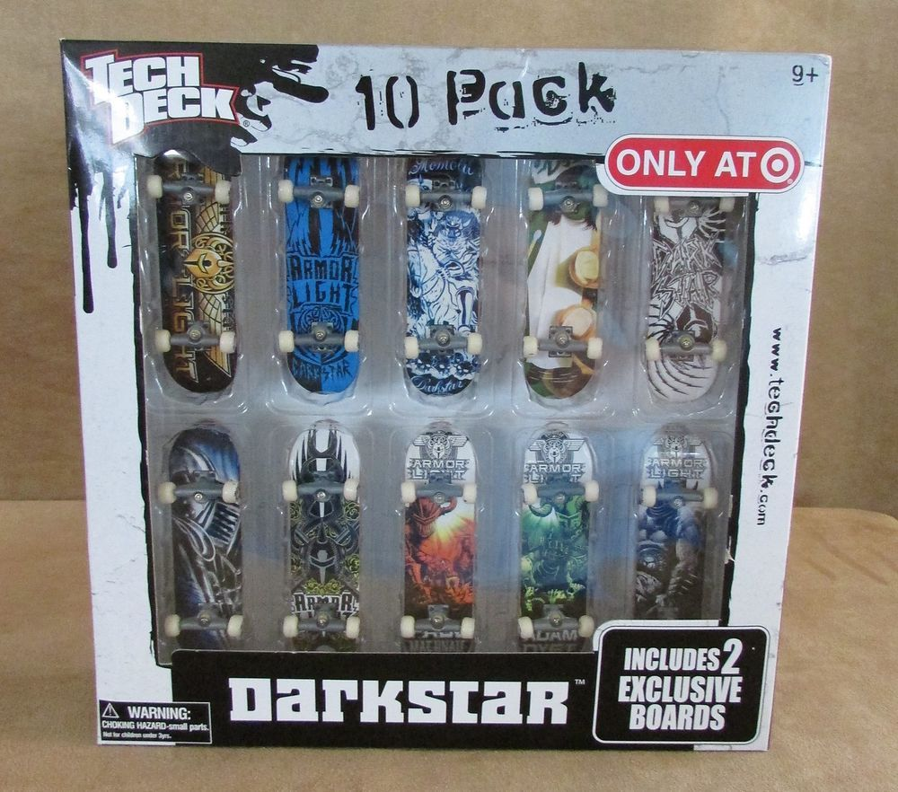 Tech Deck Darkstar 10 Pack 2 exclusive boards Sealed
