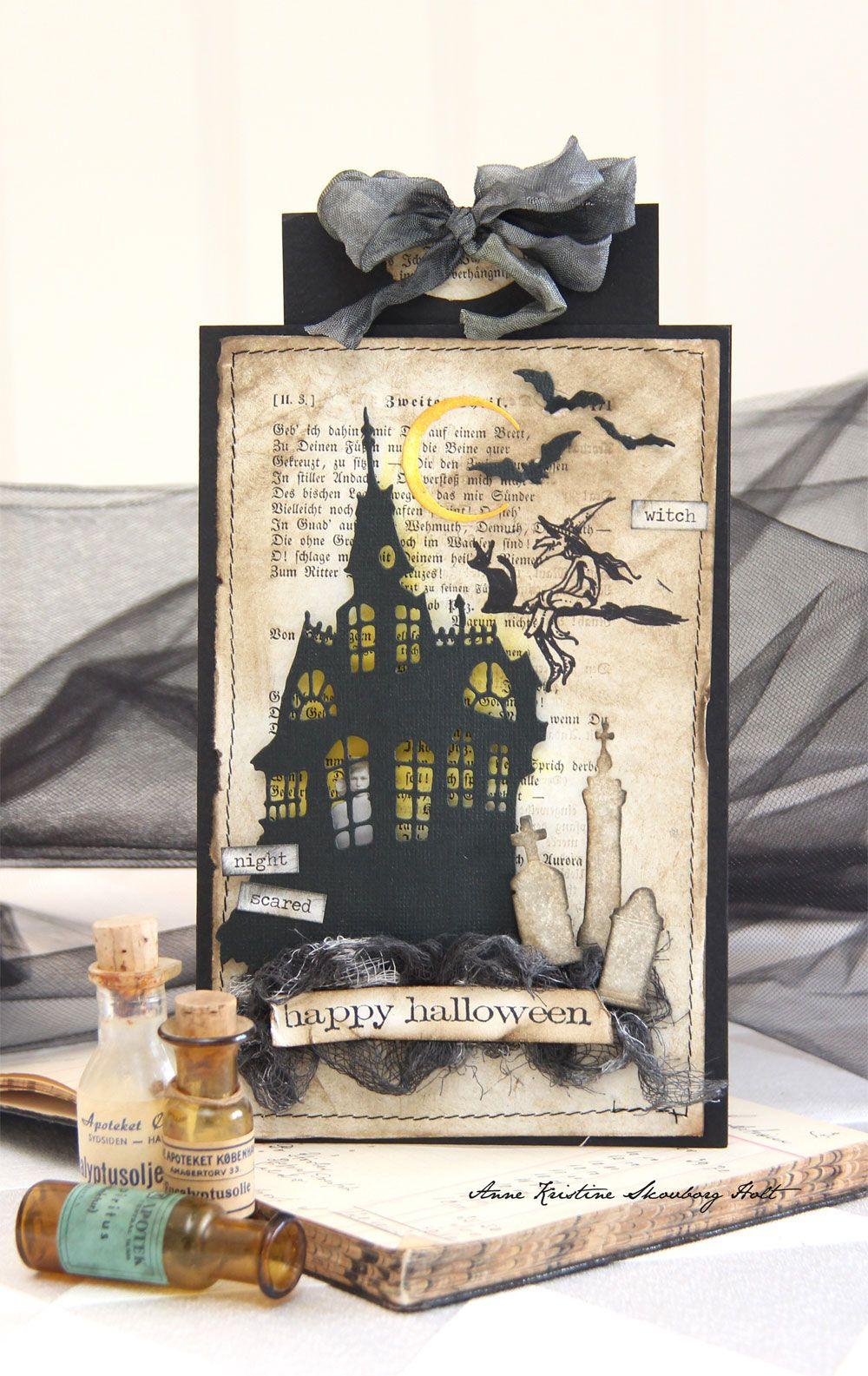 Halloween kort med tim holtz nye sizzix dies huset er