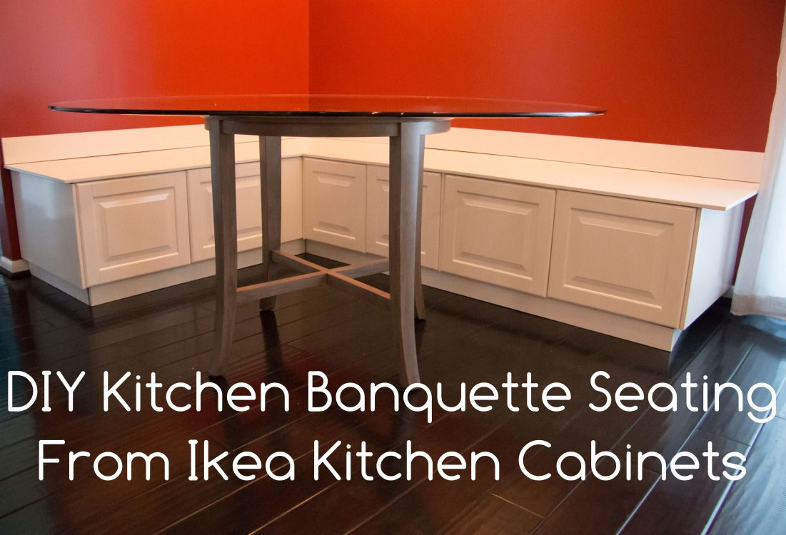 Best Kitchen Gallery: Building A Diy Banquette Or Bench For Your Kitchen Using Ikea of Alternative To Built In Cabinets In Kitchen on rachelxblog.com