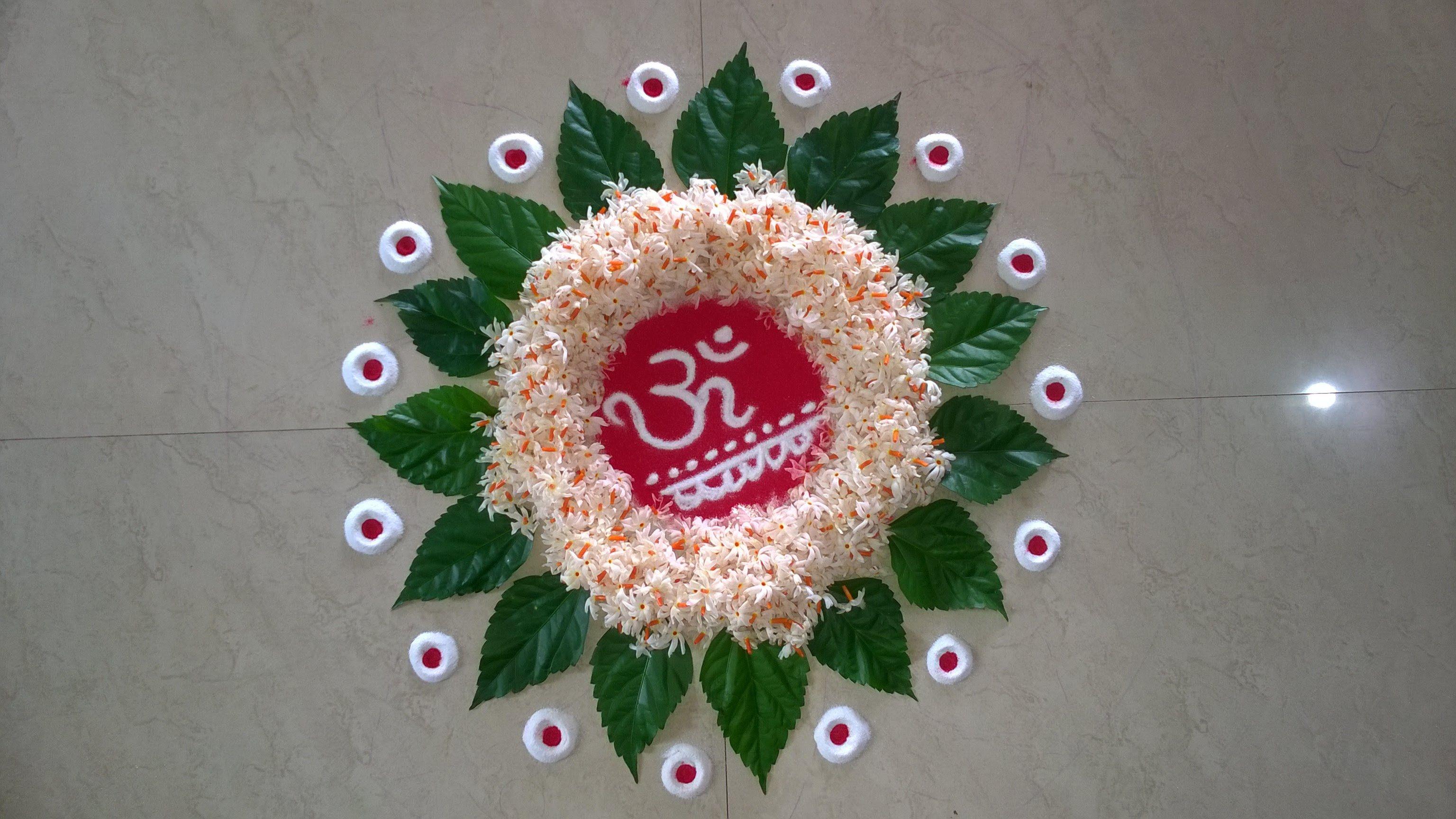 Flower Rangoli Design (NEW) Rangoli kolams Pinterest