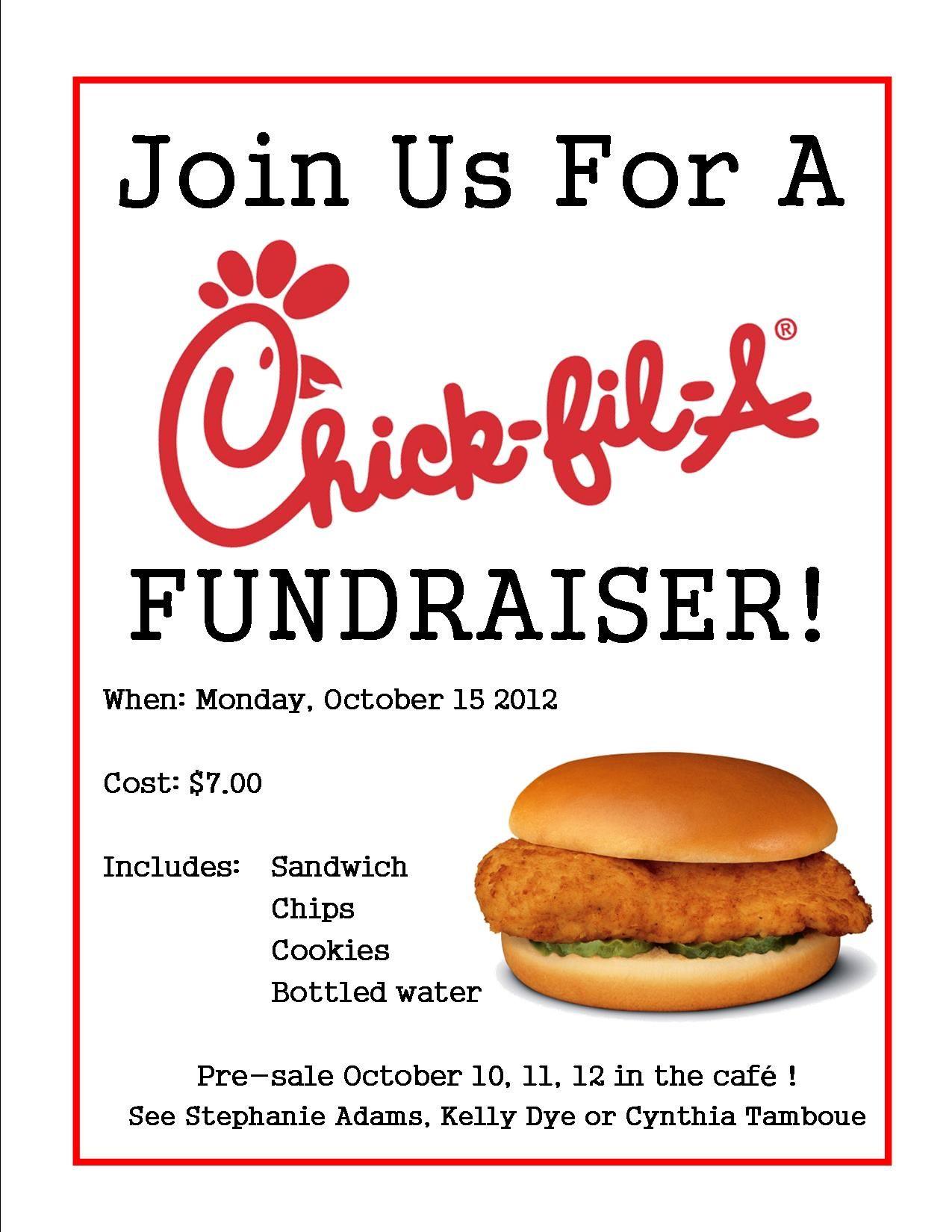 Chickfil a Fundraiser Flyer Chick fil a fundraiser