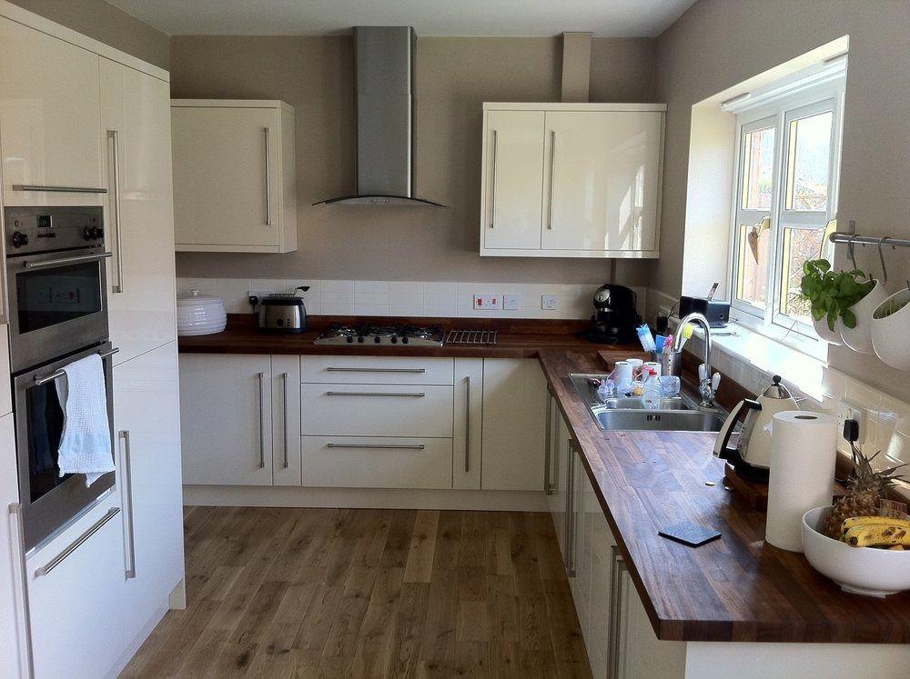 oak walnut floor another b q kitchen with