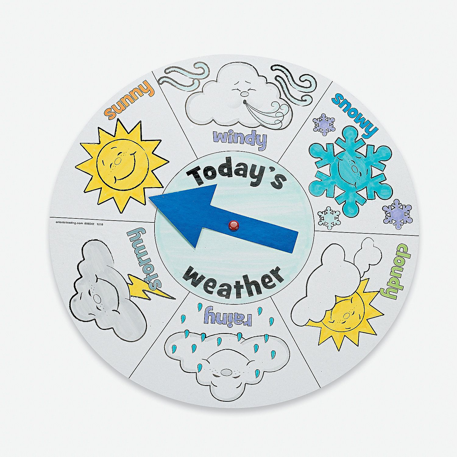 12 Color Your Own Weather Wheels Color And Spin Kids Will Love To Learn About Weather With