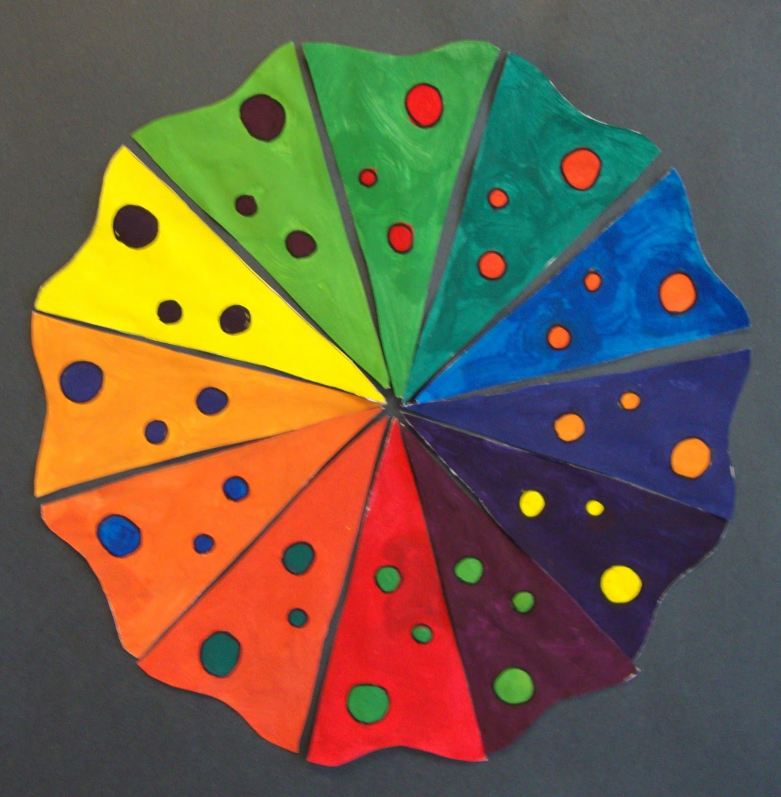 Art Paper Scissors Glue Creative Color Wheel Using