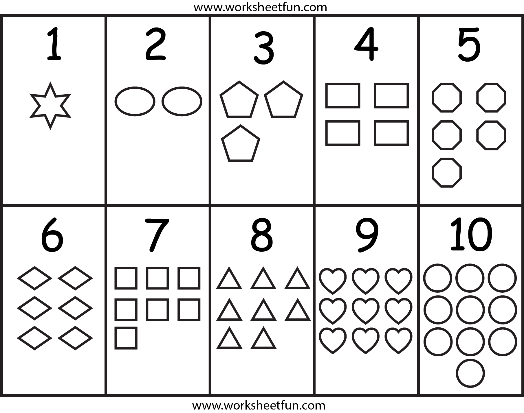 Numbers Amp Shapes Worksheet
