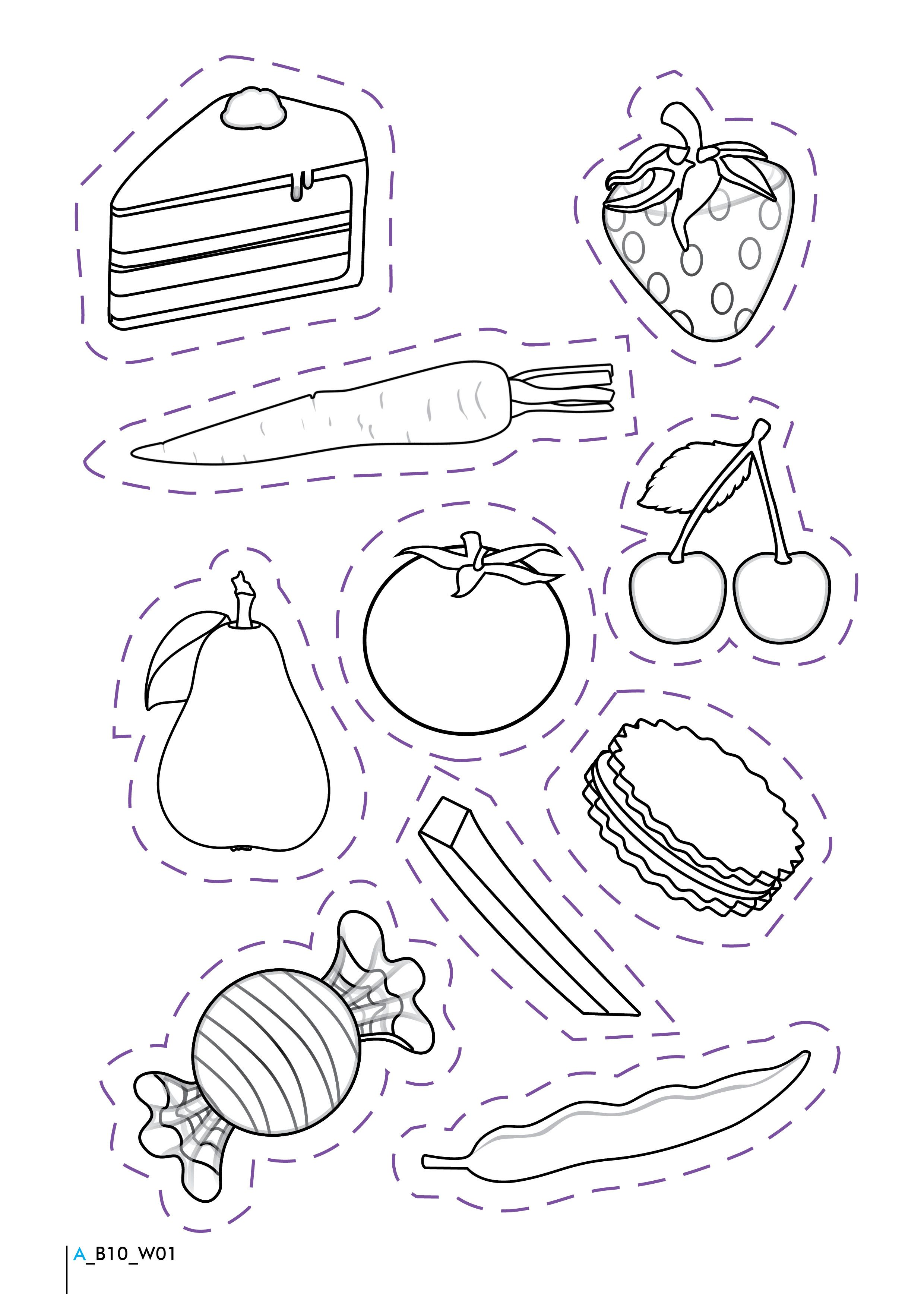 Coloring Pictures Of Healthy And Unhealthy Foods