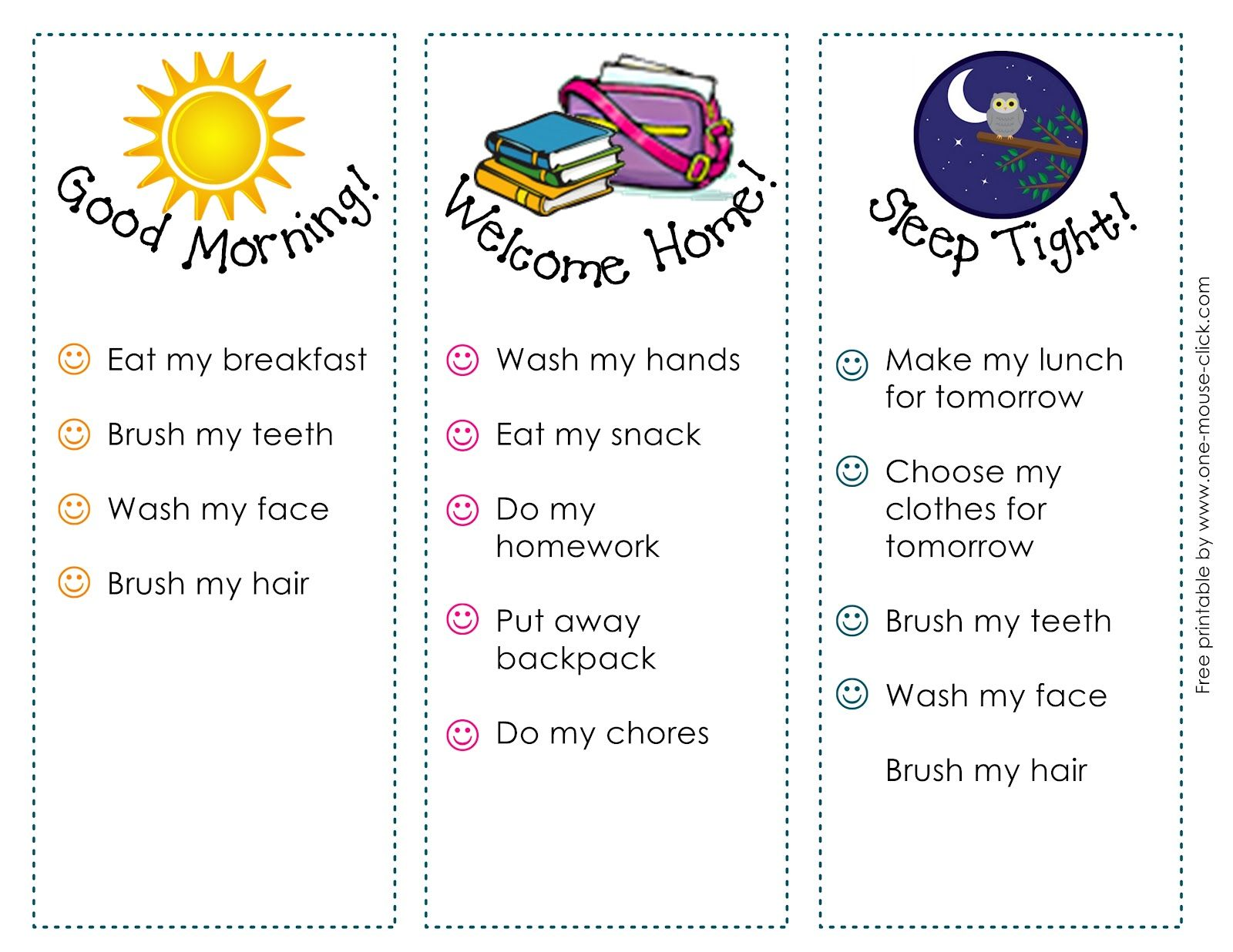 Back To School Routine Printable Help Encourage Kids Independence And Organization