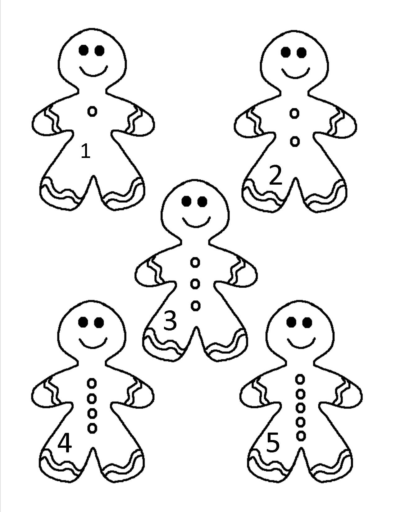 Gingerbread Man Counting Set 1 5