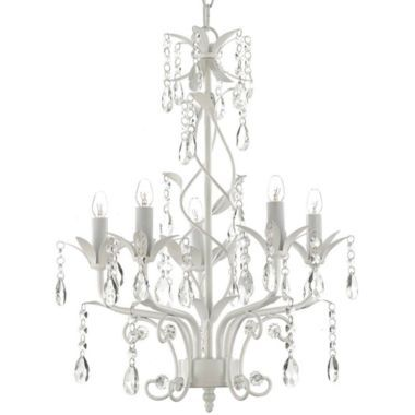 Gallery 5 Light Wrought Iron And Crystal Chandelier 139 99 Jcpenney 14x14x20