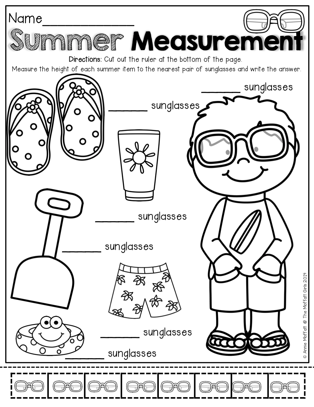 Non Standard Measurement And Other Fun Summer Review Pages