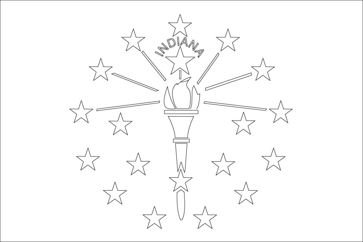 Indiana Flag Outline