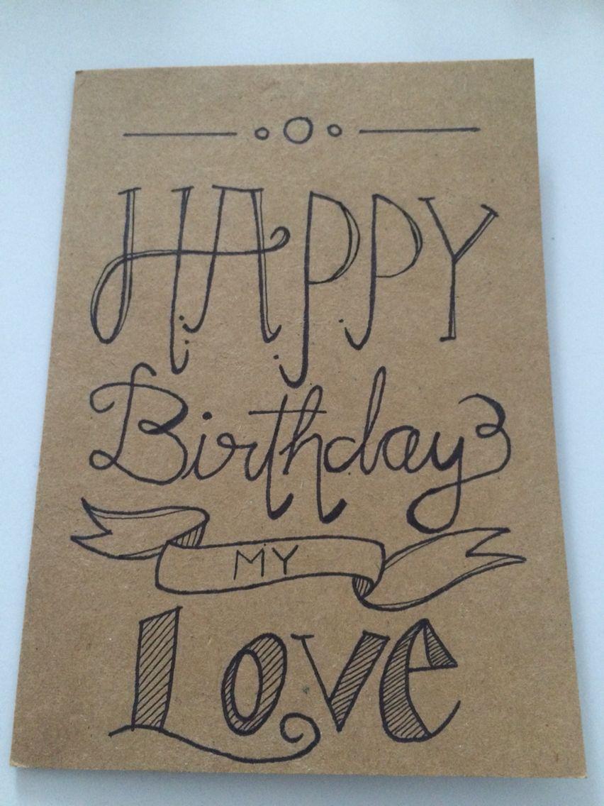 Happy Birthday Card for my Boyfriend Handwriting