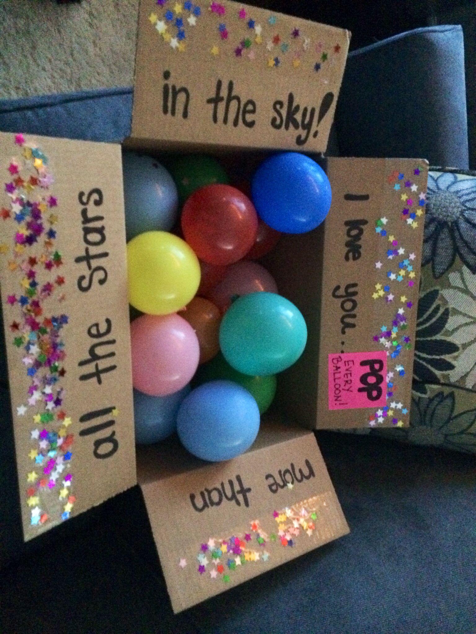 Long distance relationship fun package idea. Each