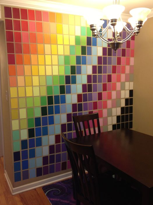 Wall Art Made With Paint Samples From