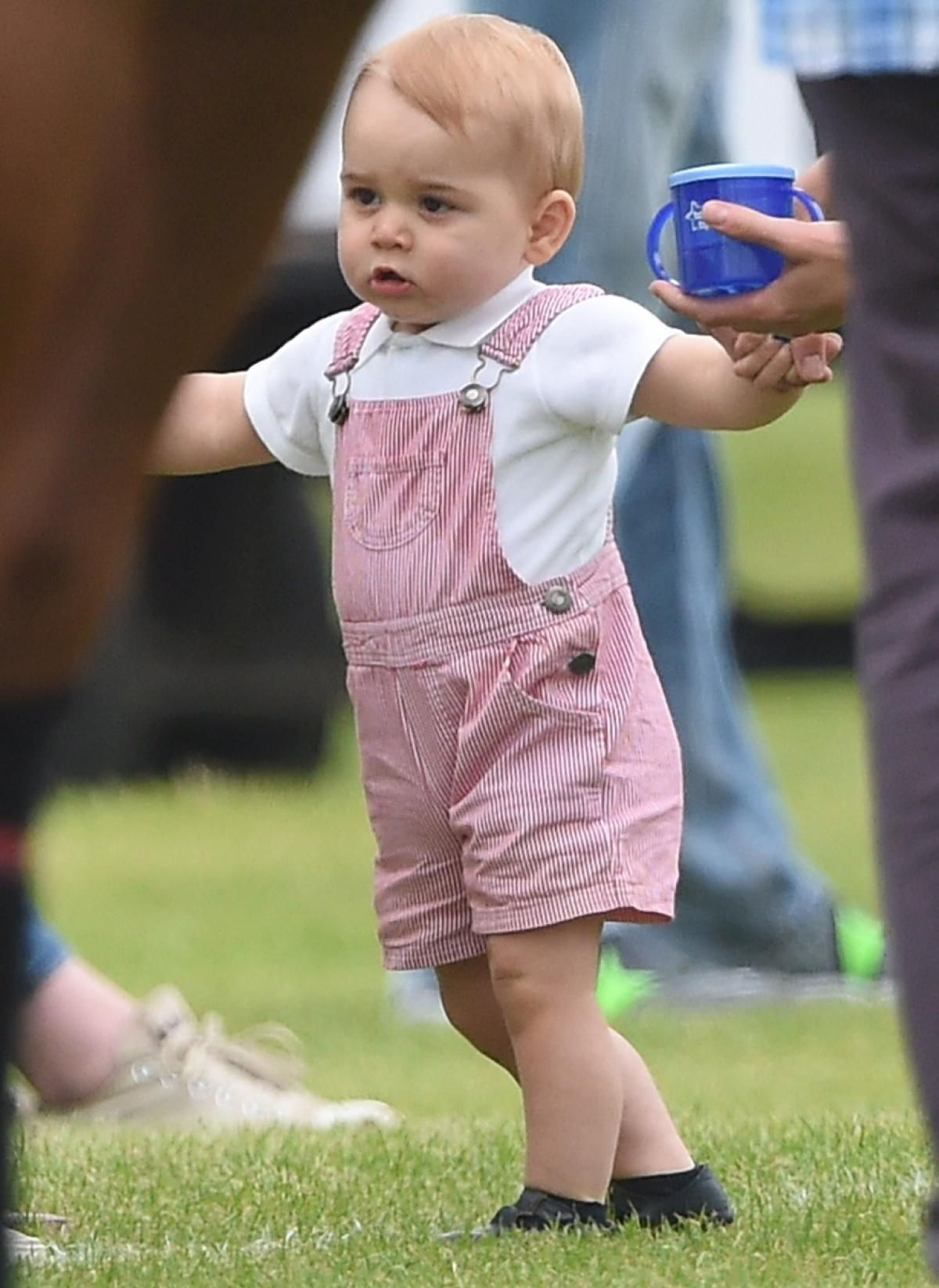 Prince takes first steps at polo match Photos