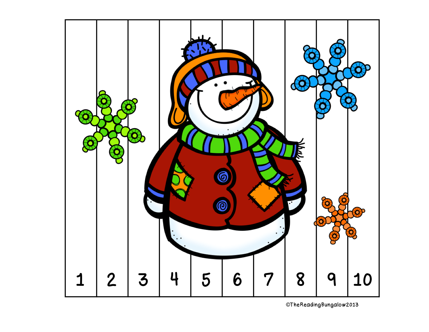 Winter Number Puzzles Skip Counting By 2 5 And 10