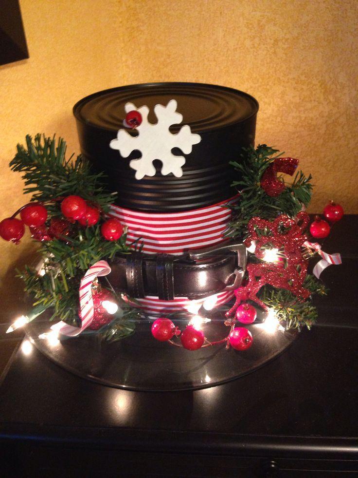 snowman hat centerpieces DIY Frosty hat decoration