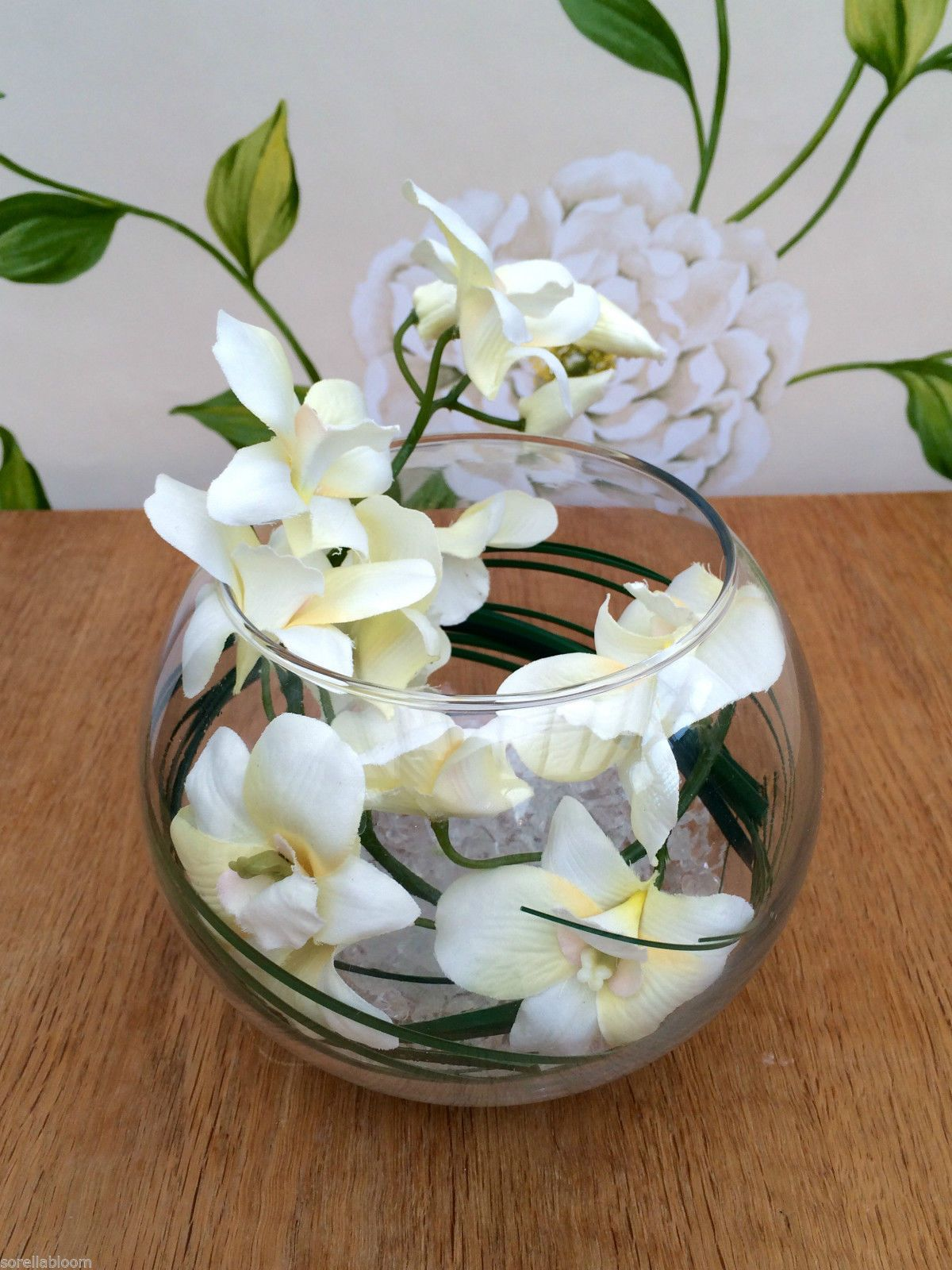 Stunning cream orchid & grass artificial flower