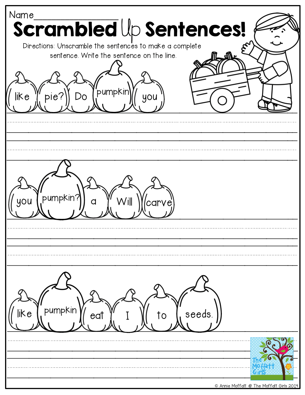 Unscramble Worksheet Fall