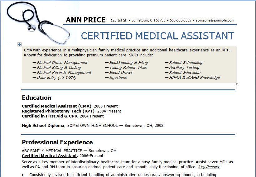 administrative medical assistant resume resume administrative
