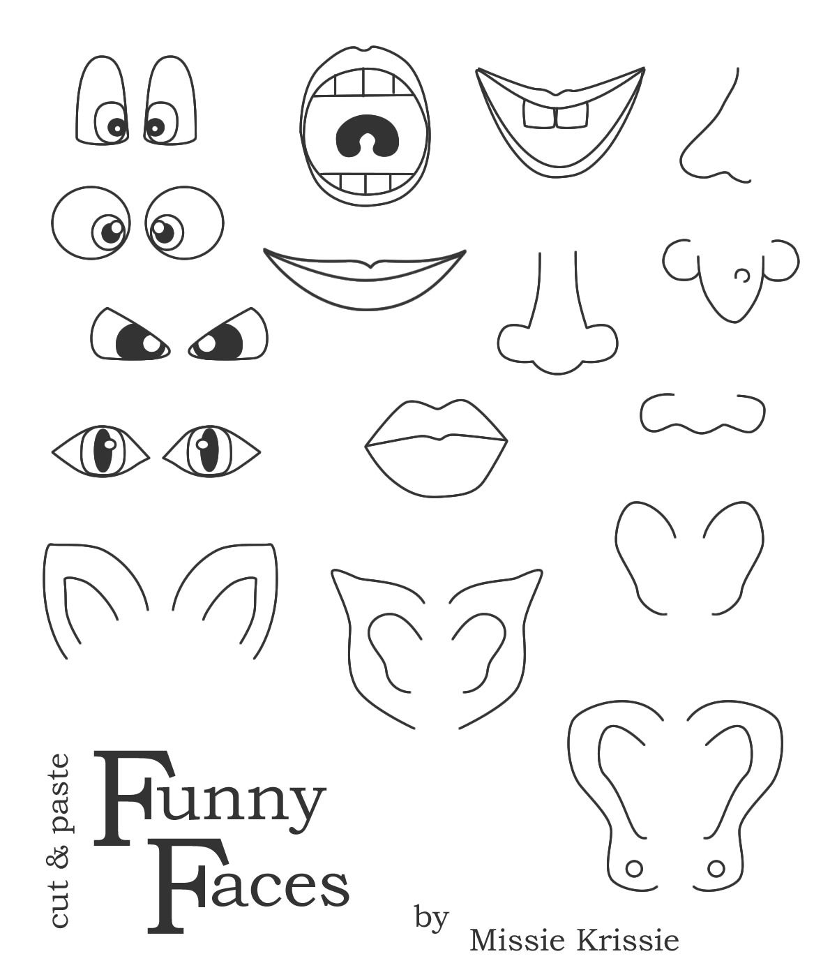 Printable Face Parts