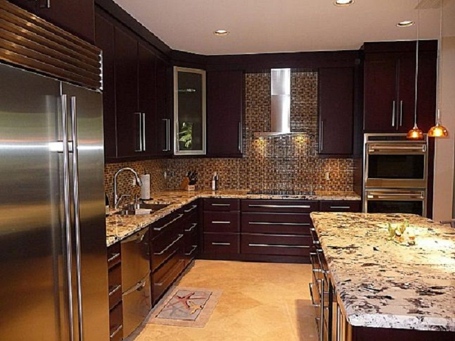 Modern Design Dark Painted Wood Costco Kitchen