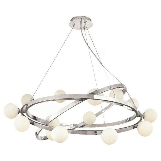 Nitrogen 15 Light Cable Articulating Chandelier With Opal Glass By Access Lighting 423 99 897 00 53