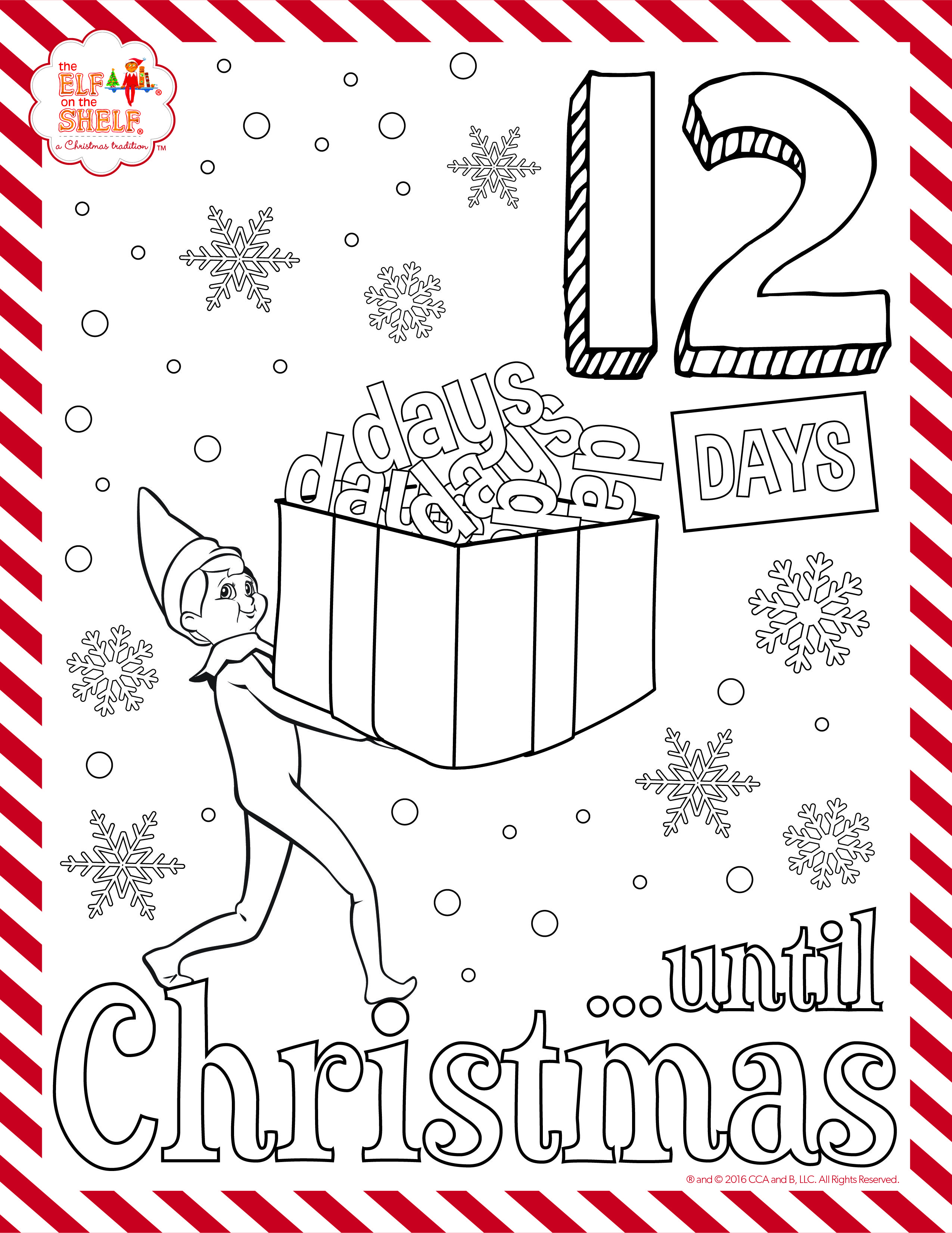 12 Days To Christmas Get The Full Set Of Coloring Pages