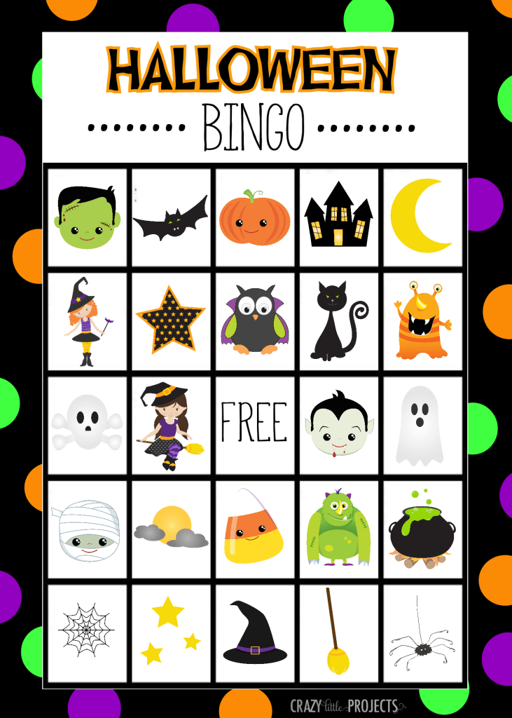 Free Printable Halloween Bingo Game Candy corn, Birthday