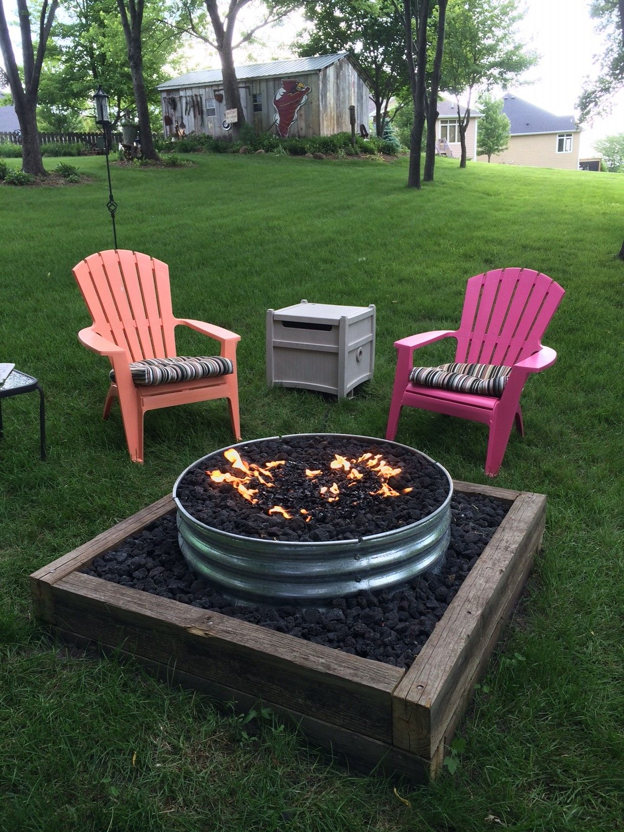 Galvanized Fire Pit Ring 48 Fire Pits Pinterest Fire