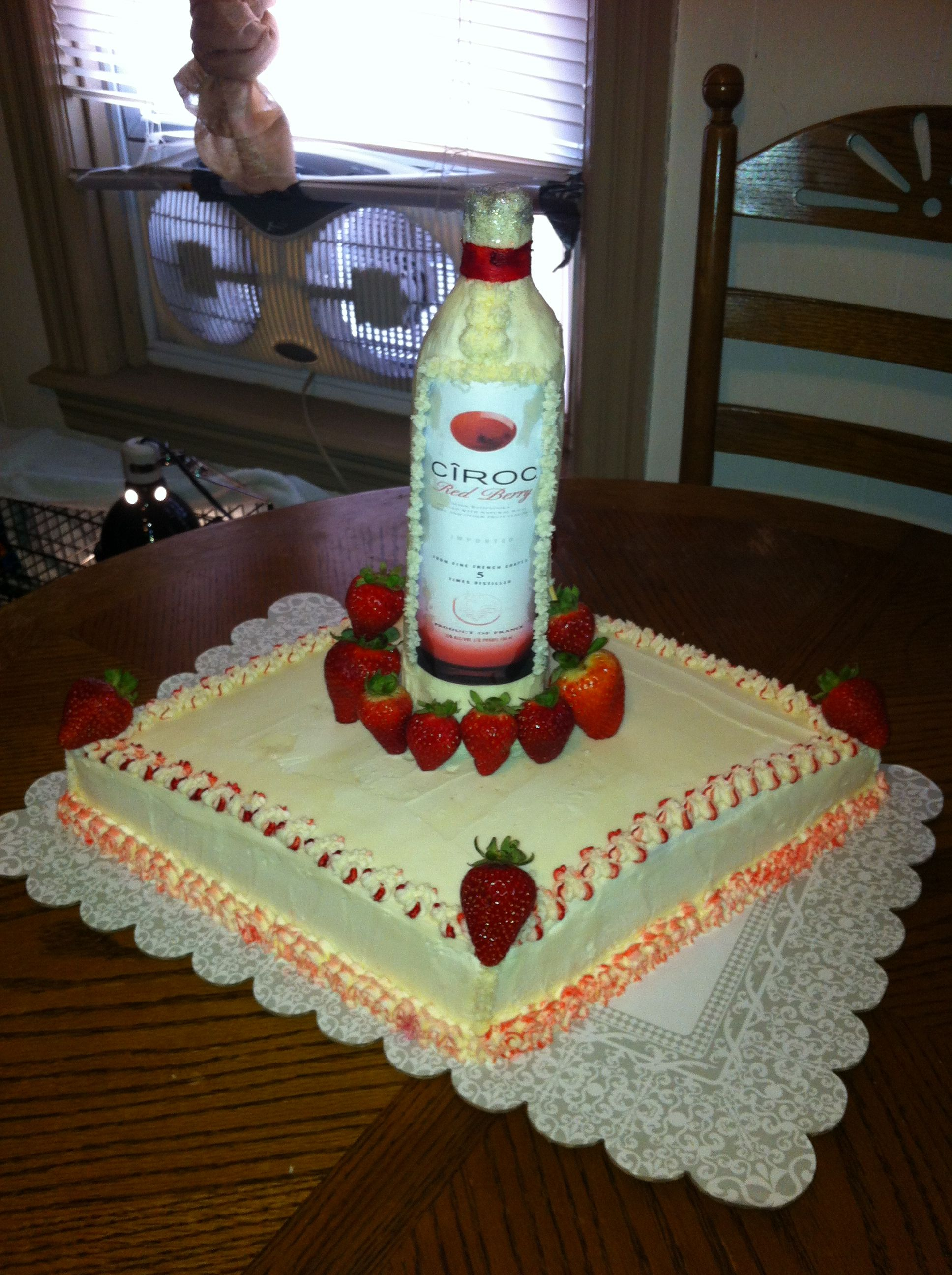 Liquor Birthday Cake Birthday Ideas Pinterest Liquor